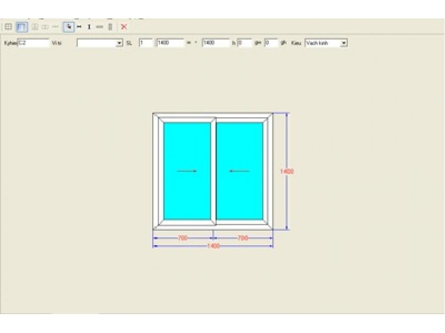 Phần mềm sản xuất cửa nhôm, cửa nhựa Window Star 2006